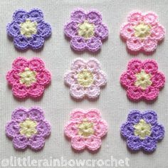 Pretties  #crochet #crochetflowers  #handmadeflowers #crochetlove #crochetgirlgang #crochetersofinstagram #flowers #pastelcolours #colourlove #crafting #craftsposure #craftersofinstagram #prettythings #shabbychic #shabbylove #crafttherapy #colourtherapy #handmade #shophandmade #etsystock #crochetmotif #crochetappliques #onmyhook #instacrochet #africanflowers #imadethese #loveflowers #shopsmall #artsandcrafts #littlerainbowcrochet by littlerainbowcrochet