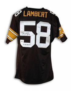 AAA Sports Memorabilia LLC - Jack Lambert Pittsburgh Steelers Black  Throwback Jersey Inscribed
