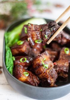 Braised Pork Belly - Cooking With LeiYou can find Pork belly and more on our website.Braised Pork Belly - Cooking With Lei Pork Recipes, Asian Recipes, Cooking Recipes, Asian Pork Belly Recipes, Hawaiian Recipes, Chinese Recipes, Chinese Pork Belly Recipe, Best Pork Belly Recipe, Korean Pork Belly