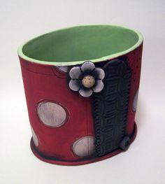 Pot by Polka Dot Clay Studio