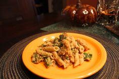 @Dreena Burton, Plant-Powered Kitchen Baked Macaroni with Broccolini in a Creamy Walnut Gravy from Let Them Eat Vegan!
