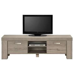 TV-dressoir Mick - lichtbruine eikenkleur - 57x182,5x50 cm Flat Screen, Decor, Entertainment Unit, Furniture, Living Room, Tv, Home, Home Decor, Room