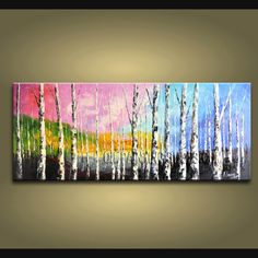 Beautiful Contemporary wall art oil paintings of Tree. Direct from Bo Yi Art Studio. It is with great pleasure to offer you this stunning 1 panel(s) wall art! This painting is created and hand painted by us, it is well stretched with inner frame, ready to Modern Canvas Art, Modern Art Paintings, Contemporary Wall Art, Landscape Paintings, Panel Wall Art, Canvas Wall Art, Diy Artwork, Abstract Wall Art, Wall Art Designs