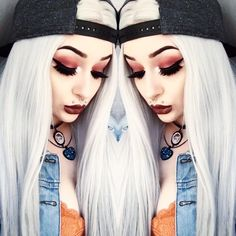 Backwards cap, jean jacket, and our 'Slayer' lashes! Little badass @xdeceiver kicks it casual, but keeps it fly in our #blackmagiclashes! ☠