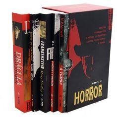 Caixa Especial Horror - 5 Volumes: Daniel Defoe, H. P. Lovecraft, Mary Shelley, Robert Louis Stevenson, Bram Stoker: Amazon.com.br: Livros