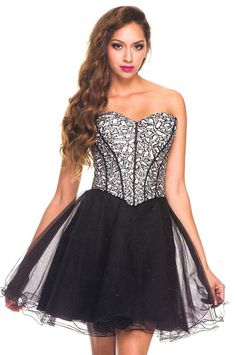 Homecoming DressWinter Ball Dress under $120  2659  Glamor Girl! NEW ARRIVAL Colors white/black, black/white