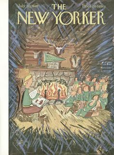 The New Yorker - Saturday, July 30, 1949 - Issue # 1276 - Vol. 25 - N° 23 - Cover by : Ludwig Bemelmans