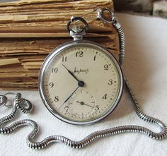 Russian Vintage pocket watch Molnija with chain door TedDiscovery