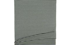 Olive Green and Off White Narrow Stripe Rib Knit Jersey Fabric