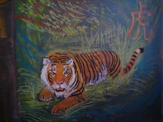 tiger Chinese new year Chalkboard Drawings in the Waldorf Classroom