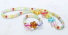 Acrylic Jewelry Sets, Necklaces and Bracelets, Kids Jewelry, Colorful