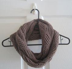 Knit Infinity Scarf // Diamond Lace Pattern // by itsCOWLdoutside, $26.00