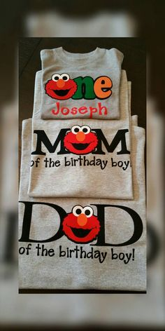 Ultimate custom Tshirt Birthday package for Mom, Dad and Birthday Boy or Girl!