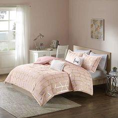 Girls Comforter Sets, Teen Bedding, Bedding Sets, King Comforter, Teen Girl Comforters, Gold Comforter, Bedroom Decor For Teen Girls, Teen Girl Bedrooms, Bedroom Ideas