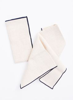 Color Trim Linen Napkin Set