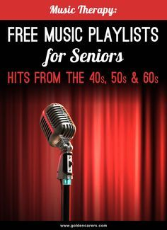 FREE music playlists from the 40s, 50s, 60s - start listening straight away!  Music has been proven to be very beneficial for elderly people in long term care, especially in dementia care.