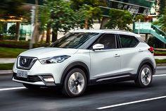 Nissan Kicks — O crossover compacto inédito já está a caminho das lojas brasileiras. Estreia em 5 de agosto junto com os Jogos Olímpicos do Rio de Janeiro, como o carro oficial das Olimpíadas Rio 2016. Equipado com motor 1.6 flex (114 cv) e câmbio automático do tipo CVT, aposta no custo/benefício e traz lista equipamentos sofisticada para tentar bater o líder Honda HR-V. Vem importado do México apenas na versão topo de linha SL, por R$ 89.990. Em 2017, passará a ter produção nacional na…