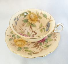 Vintage EB Foley England Peony tea cup and by TheCatzPajamas
