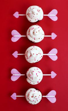 Charm Bracelet Diva {at Home}: Cupid's Arrow Red Velvet Cupcakes