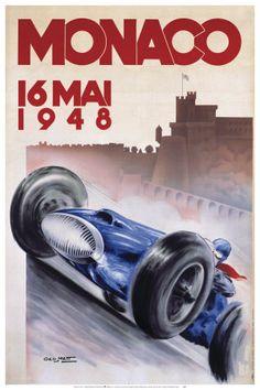 Vintage Monaco Grand Prix poster. #Monaco