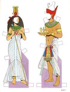 Ancient Egypt Clothing | Ancient Egypt | Gabi's Paper Dolls