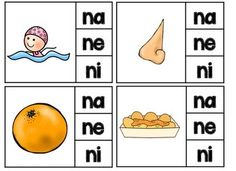 REPASO DE LA LETRA N - ROMPECABEZAS (NA, NE, NI, NO, NU SOUNDS REVIEW PUZZLES) - Two clip it centers in Spanish for initial syllables. Spanish Alphabet Letters, Learning Spanish For Kids, Classroom Tools, Letter N, Bilingual Education, Syllable, Spanish Lessons, Vocabulary, Preschool