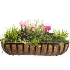 Amazon.com: CobraCo HTR36-B 36-Inch English Horse Trough Planter, Black: Patio, Lawn & Garden