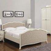 The Calvados Antique White Wooden Bed Frame is available in 6 and finished in an antique white with a neutral upholstered head and foot end Bedroom Couch, One Bedroom, Bedroom Sets, Bedroom Furniture, Home Furniture, Furniture Ideas, White Wooden Bed, Wooden Bed Frames, Asian Bedroom
