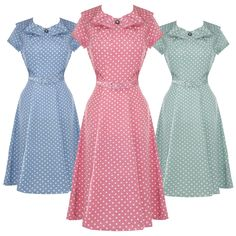 Ingrid blu stile Vintage Tea Dress ~ Hell Bunny