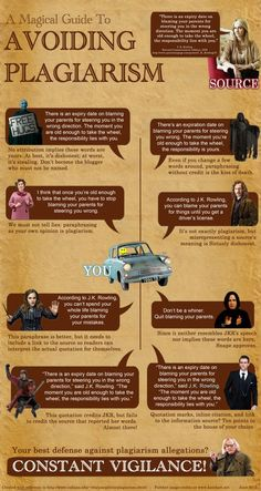 I think I may print this for my classroom, when we start writing expository and research. Citing Sources: A Quick and Graphic Guide on avoiding Plagiarism (using J.K Rowling as a source! Teaching Writing, Essay Writing, Teaching Tools, Teaching English, English Writing, Academic Writing, Ap English, Writing Tips, Persuasive Essays