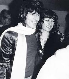 vintage everyday: Uschi Obermaier with the Rolling Stones on the 1975 tour