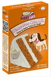 PUPPY CAKE WHEAT-FREE PEANUT BUTTER CAKE MIX AND FROSTING