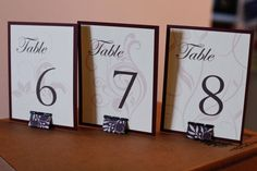 DIY Cost Effective Table Numbers Found On Weddingbee.com Share Your  Inspiration Today!
