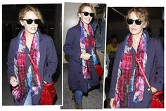 Kylie Minogue in Catalina Scarf from he Frida collection | Athena Procopiou