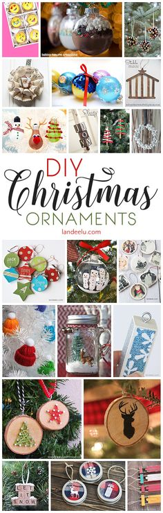 DIY Christmas Ornaments to Make for a festive do it yourself Holiday! Cheap, Easy and so Pretty on your Christmas Tree this year!