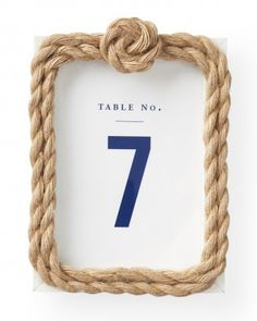 """See the """"Framed Table Numbers"""" in our Nautical Wedding Ideas gallery"""
