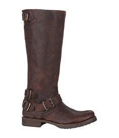Frye Veronica Back-Zip Boots. Love love love this exposed back zipper. BADASS!