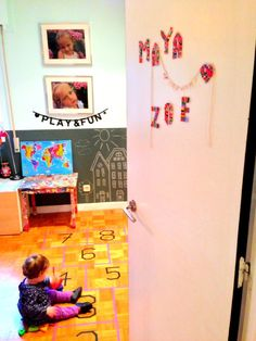 Rainy day: Hopscotch at home with masking tape and more ideas how to use masking tape – Babyecochic.com