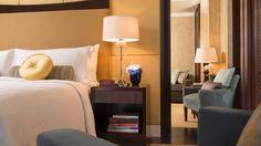 Guest room at Four Seasons Hotel, Beijing, designed by HBA/Hirsch Bedner Associates