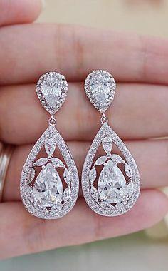 Luxury Cubic Zirconia Bridal Earrings from EarringsNation