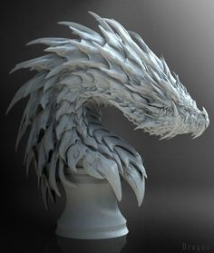HI everyone,I love ZBrush! Modeled with zbrush,rendered with keyshot. enjoy my zbrush works… Hope you … Monster Concept Art, Monster Art, Creature Concept Art, Creature Design, Fantasy Creatures, Mythical Creatures, Dragon Chess, Dragon Medieval, Dragon Sketch