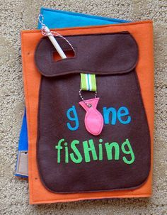 I'd make this bag to hold my fish in a quiet book Gone Fishing Magnetic Felt Game .PDF Pattern by LindyJDesign, $6.00