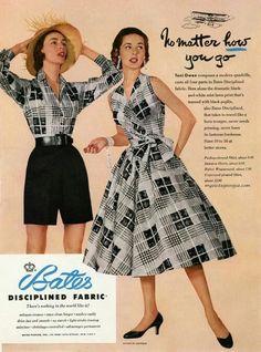 Fashion D, Junior Fashion, Fashion Fabric, 1950s Fashion, Fashion History, Fashion Prints, Vintage Fashion, Fashion Outfits, Vintage Vogue