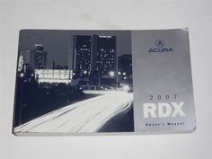2007 Acura RDX Owners Manual Book