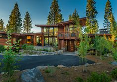 Contractor: Greenwood Homes Photography: Vance Fox Square Footage: sf bedrooms: 5 bathrooms: Modern Exterior, Exterior Design, Log Cabin Living, Modern Mountain Home, Dream House Exterior, House Goals, Modern House Design, Modern Architecture, Future House