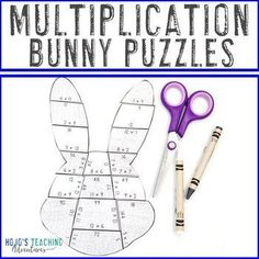 MULTIPLICATION Bunny Puzzles - Great Easter Math Centers or Activities! | 3rd, 4th, 5th grade, Activities, Easter, Games, Homeschool, Math, Math Centers, Spring 5th Grade Classroom, Special Education Classroom, Reading Recovery, Ell Students, Easter Games, Math Math, Multiplication Facts, Homeschool Math, 5th Grades