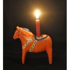 Old unusual Dala candle horse for the Christmas?