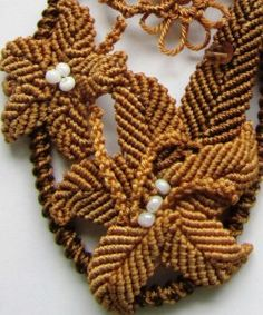 Схема плетения цветка макраме