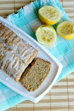 lemon and zucchini loaf - made this and it was so good! Can't taste the zucchini at all and the glaze on top is great!