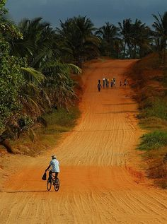 Inhambane, Mozambique. I've been to Mozambique (briefly), but this picture reminds me so vividly of Malawi, about 15 minutes before the skies would open  - daily - to the most incredible rain.